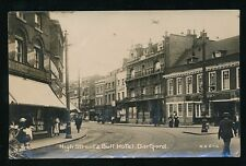Kent DARTFORD High St & Bull Hotel + Arthur Bond1916 RP PPC by H G Ellis