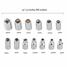 46pcs 1/4-Inch Socket Set Car Repair Tool Ratchet Torque Wrench Combo Tools L5E9