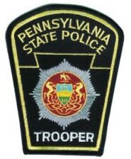 """PENNSYLVANIA STATE POLICE --- STATE POLICE EMBROIDERED PATCH - IRON-ON -- NEW 3"""""""