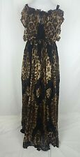 Dolce & Gabbana Dress Leopard Full Length Maxi Gown Lace Embroidered Silk Runway