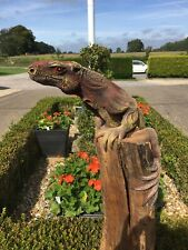 More details for solid wood lizard  carving
