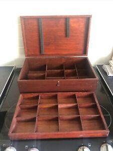 Hand Made Fishing Tackle Float Box Wooden Hobbies Box