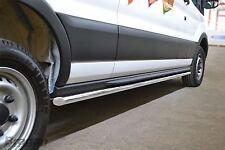 Para adaptarse a 2014+ Ford Transit MK8 LWB Acero bandas laterales pasos tubos faldas Funcionando