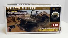 1/10 Scale- 2.4G - Remote Controlled 4Wd Willys Military Jeep