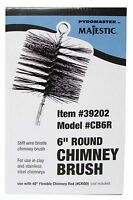 "Pyromaster 6"" Round Stiff Bristle Clay & Stainless Steel Cleaning Chimney Brush"