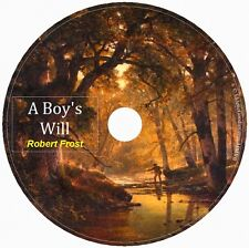 A BOY'S WILL by Robert Frost 1 Audio CD- Frost's 1st major poetry collection