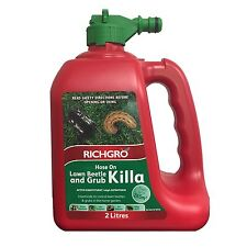 Richgro LAWN BEETLE & GRUB KILLA 2L Hose On, Effective & Fast Acting Aust Brand