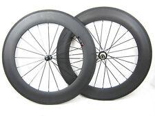 20.5mm width 88mm clincher carbon fiber road bike wheelset 3k matte finish