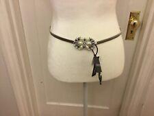 women's ellen tracy adjustable Metal belt With Stones NWT