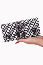 Women's Kitty Cute Cat Love 50s Rockabilly Godiva Wallet Purse By Banned Apparel