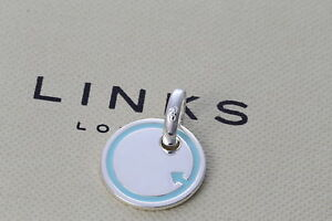 NEW Genuine Links of London 925 Silver Sweetie Charm Baby Boy Disc 5030.1330 £45