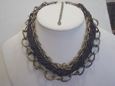 Seed Bead Torsade & Multi-chain Draping Necklace BLACK J158723