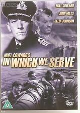 IN WHICH WE SERVE DVD NOEL COWARD * JOHN MILLS & CELIA JOHNSON - WAR FILM