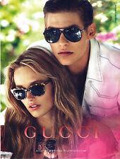 PUBLICITE ADVERTISING  2012     GUCCI  nouvelle collection lunettes optique