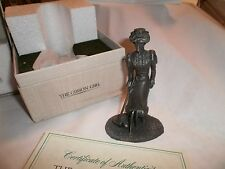 """Vintage 1975 The Franklin Mint Pewter """"the Gibson Girl."""" i original box with COA"""