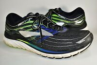 Brooks Glycerin 15 Mens Running Shoes Road Black Blue Green Size 14 D No Insoles