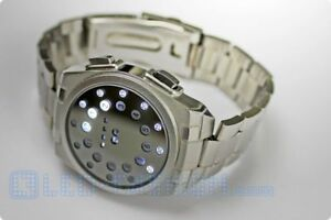 LED-Edelstahl-Armbanduhr led gadget coole leuchtende uhr schmuck armschmuck geek