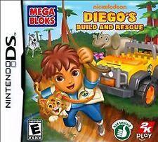 Mega Bloks: Diego's Build and Rescue (Nintendo DS, 2010) GAME, CASE & MANUAL ~B4