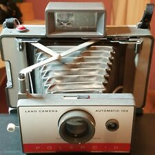 polaroid automatic 104 land camera with travel case, lamp fixture, cold clip+