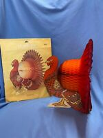 Turkey Paper Centerpiece Thanksgiving Honeycomb Table Decoration Party Decor
