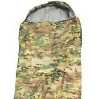TAS MULTICAM CADET SLEEPING BAG HOODED 0 DEGREE TEMP RATED 210X75CM CADET / CAMP