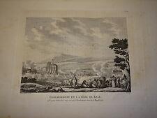 Grande Gravure XVIII REVOLUTION FRANCAISE BOMBARDEMENT LILLE NORD MILITAIRE 1792