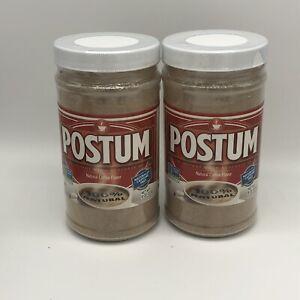 Lot Of 2 Postum Natural Coffee Flavor Alternative - Caffeine Free - 8oz Each