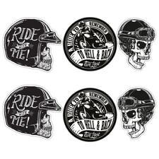 Biker Laminated Sticker set Motorbike Motorcycle Helmet Rockers Rockabilly decal