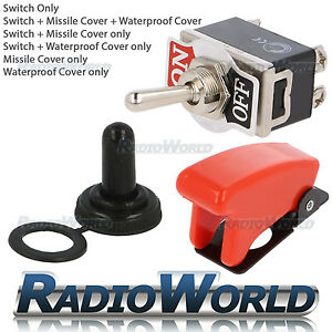 Heavy Duty Toggle Switch 25A 12A 12V ON/OFF Car Light DPST Missile / Water Cover