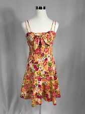 Citrine - Sun Dress, Size 6,  Floral Spaghetti Straps