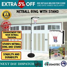 Adjustable Netball Goal Portable Ball Sports Hoop Height Regulation Stand New