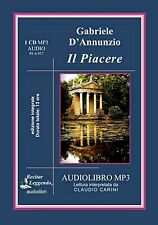 Audiolibro audiO book cd MP3 IL PIACERE G. D'ANNUNZIO  usato