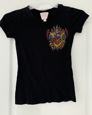 Romeo and Juliet Couture crown heart crystal embellishments t-shirt Size Small