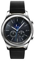 Samsung Galaxy Watch 46mm Silver Case Classic Buckle Onyx Black - Bluetooth
