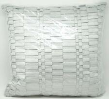 "Hudson Park Collection Tessera Decorative Pillow, 16"" x 16"" - Silver"