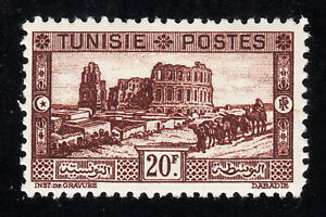 TUNISIA #142 Mint Hinged TOP VALUE: Amphitheater SCV $65.00