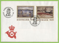 Denmark 1988 paintings set on First Day Cover