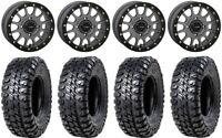 "System 3 SB-5 Grey 14"" Wheels 31"" Chicane RX Tires Kawasaki Teryx Mule"