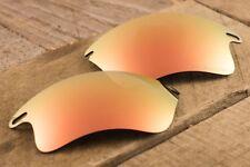 Bright Rose Gold Peach Iridium Polarized Mirror Lenses for Oakley Fast Jacket XL