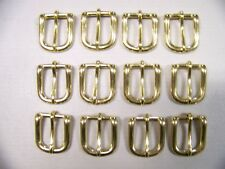 Leathercraft Buckles #12 Belt Buckle Solid Brass 3/4 Inch Size  Quantity of 12
