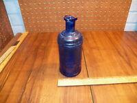 Vintage S.S.STAFFORD'S INK'S Blue Cobalt Glass Bottle w Pour Spout             !