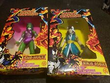 "Lof Of 2 Marvel Universe 10"" Tall Action Figures She-Hulk And Rogue"