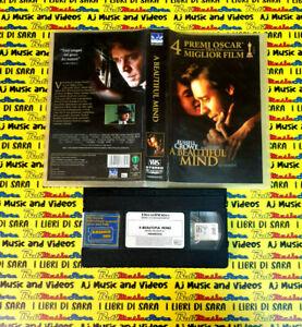VHS film A BEAUTIFUL MIND 2002 Russell Crowe DREAMWORKS 749068353D01(F211)no dvd
