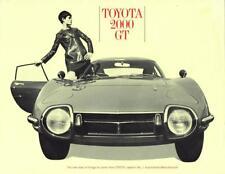 Print.  1967 Toyota 2000 GT auto advertisement