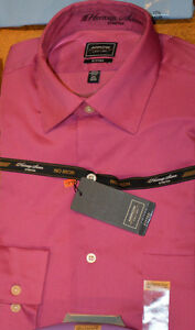 Men's Arrow Long Sleeve Fitted Button Front Dress Shirt Green, Purple, Blue, Tan