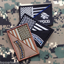 3PCS USA AMERICAN FLAG SHEEPDOG POLICE BLUE LINE US ARMY TACTICAL MORALE PATCH