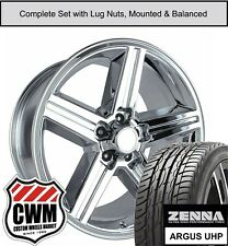 """18 inch Wheels and Tires for Chevy Camaro Chrome 18x8"""" Iroc Rims fit 1982-1992"""