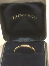 Tiffany & Co. Wedding Band 18k Gold 12 Diamond Ring Size 6.5