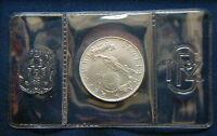 1986 Italy MEXICO World Cup Football soccer 500£ silver coin UNC in original box