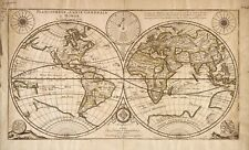 A4 Reprint of Old Maps 1676 Reprinted French Map Of World Planisphere